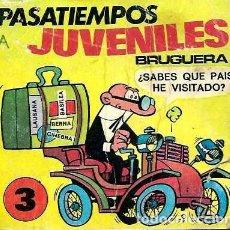 Tebeos: PASATIEMPOS JUVENILES BRUGUERA Nº 3 - BRUGUERA 1980, 3ª EDICION - EL DE LA FOTO - VER DESCRIPCION. Lote 105656395