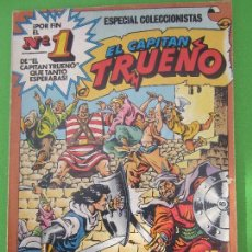 Tebeos: ALBUM COLOR , CAPITAN TRUENO , N. 11, A SANGRE Y FUEGO , NUMERO 1 ESPECIAL COLECCIONISTAS, BRUGUERA. Lote 106128451