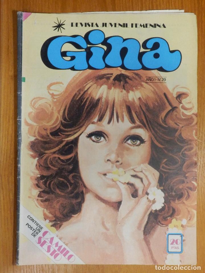 TEBEO - COMIC - REVISTA JUVENIL FEMENINA - GINA - AÑO 1 - Nº 29 - CON POSTER CAMILO SESTO - 1978 (Tebeos y Comics - Bruguera - Otros)