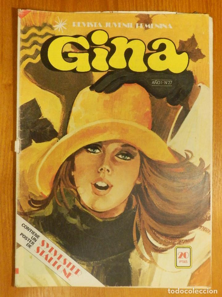 TEBEO - COMIC - REVISTA JUVENIL FEMENINA - GINA - AÑO 1 - Nº 27 - CON POSTER SYLVESTER STALLONE 1978 (Tebeos y Comics - Bruguera - Otros)