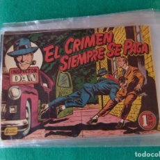 Tebeos: INSPECTOR DAN Nº 7 EL CRIMEN SIEMPRE SE PAGA EDITORIAL BRUGUERA 1952. Lote 107875835