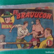 Tebeos: INSPECTOR DAN Nº 23 EL BRAVUCON EDITORIAL BRUGUERA 1952. Lote 107876479