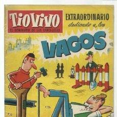 Tebeos: TIO VIVO 79: EXTRAORDINARIO DEDICADO A LOS VAGOS, 1959, CRISOL, BUEN ESTADO. Lote 107965939
