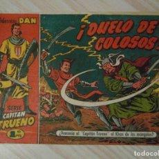 Tebeos: DUELO DE COLOSOS. Nº 22 DE EL CAPITAN TRUENO. COLECCION DAN. BRUGUERA. 1957. DIBUJANTE AMBROS. Lote 108832711