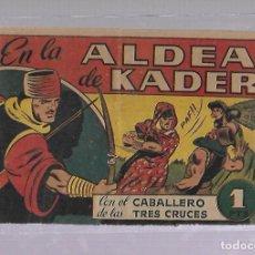 Tebeos: TEBEO. EN LA ALDEA DE KADER CON EL CABALLERO DE LAS TRES CRUCES. BRUGUERA. Lote 108864903