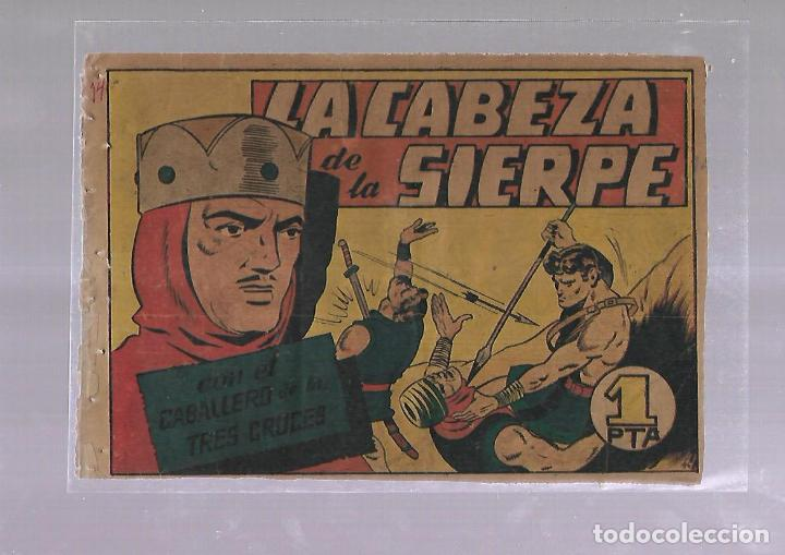 TEBEO. LA CABEZA DE LA SIERPE CON EL CABALLERO DE LAS TRES CRUCES. BRUGUERA (Tebeos y Comics - Bruguera - Otros)