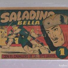 Tebeos: TEBEO. SALADINO Y LA BELLA CON EL CABALLERO DE LAS TRES CRUCES. BRUGUERA. Lote 108865351