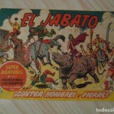 Tebeos: CONTRA HOMBRES Y FIERAS. Nº 132 DE EL JABATO. SUPER AVENTURAS. BRUGUERA. 1961. DANIS J. JUEZ. Lote 108901295