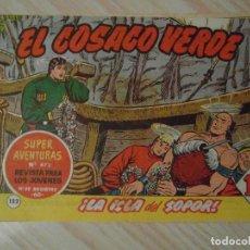 Tebeos: LA ISLA DEL SOPOR. Nº 132 DE EL COSACO VERDE. EDITORIAL BRUGUERA. 1962 F. COSTA. Lote 108914495
