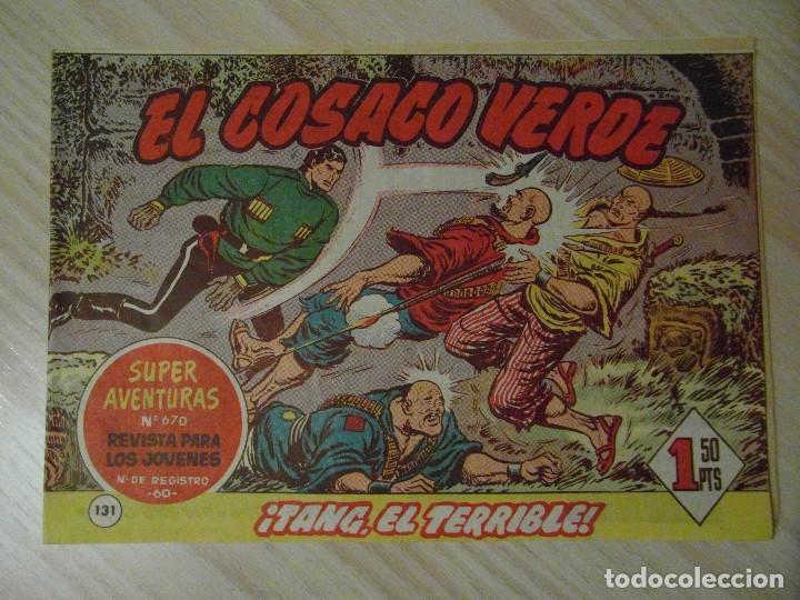 TANG, EL TERRIBLE. Nº 131 DE EL COSACO VERDE. EDITORIAL BRUGUERA. 1962. F. COSTA (Tebeos y Comics - Bruguera - Cosaco Verde)