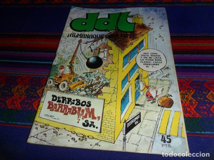 DDT ALMANAQUE 1977. BRUGUERA 45 PTS. BUEN ESTADO Y RARO. (Tebeos y Comics - Bruguera - DDT)