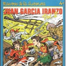 Tebeos: JUAN GARCIA IRANZO. AUTOR DE EL CACHORRO. MAESTROS DE LA HISTORIETA. 2 TOMOS. 200 PAGINAS. Lote 183685423