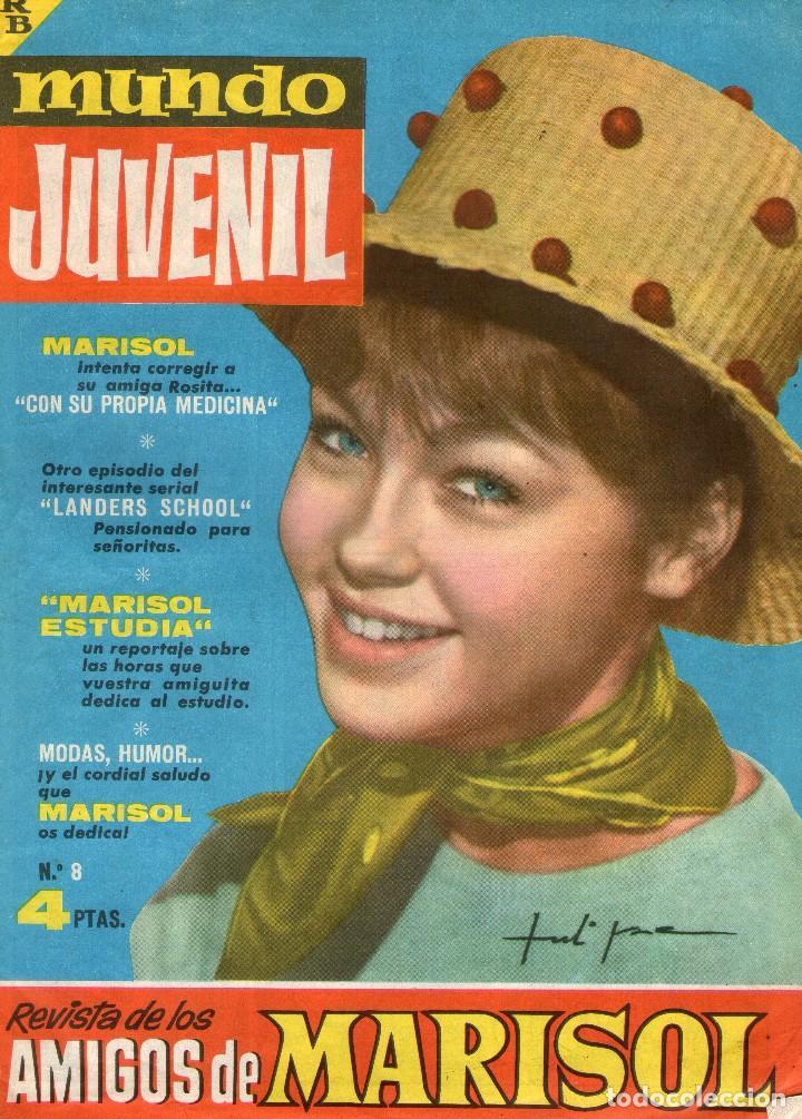 MUNDO JUVENIL - Nº 8 - REVISTA DE LOS AMIGOS DE MARISOL - EDITORIAL BRUGUERA - AÑO 1963. (Tebeos y Comics - Bruguera - Otros)