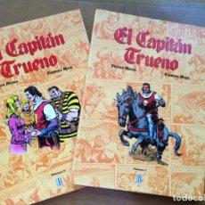 Tebeos: VOLÚMEN I Y II EL CAPITÁN TRUENO DE VICTOR MORA Y FUENTES MAN 1ª EDICIÓN 1993. Lote 109536763