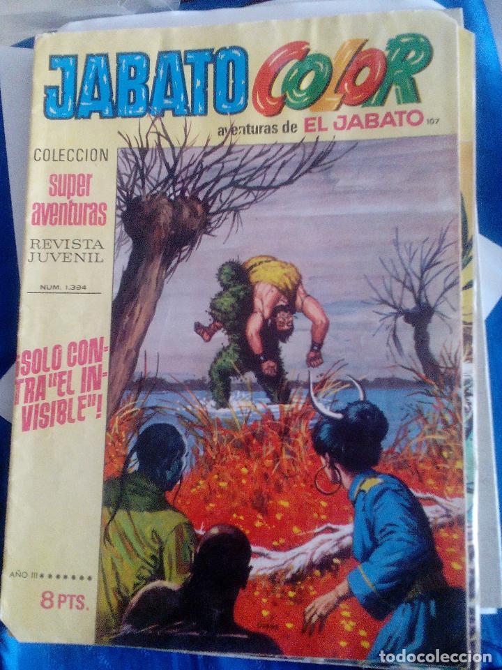 JABATO COLOR. NUM 1394 SÓLO CONTRA EL INVISIBLE. AMARILLO (Tebeos y Comics - Bruguera - Jabato)