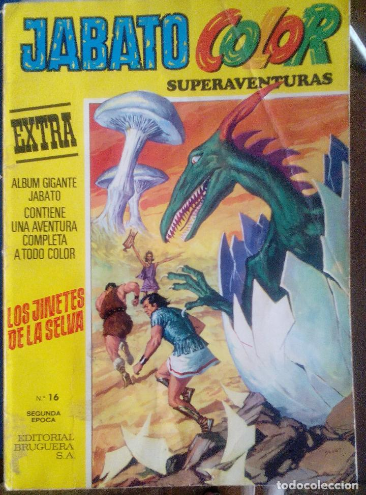 JABATO COLOR. NUM 16. LOS JINETES DE LA SELVA. AMARILLO (Tebeos y Comics - Bruguera - Jabato)