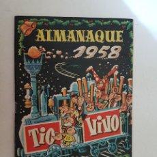 Tebeos: TIO VIVO. ALMANAQUE 1958. EDITADO CRISOL.. Lote 110804483