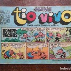 Tebeos: MINI TIO VIVO. AÑO I Nº 16. EDITORIAL BRUGUERA. 1975. Lote 111296407