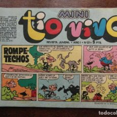 Tebeos: MINI TIO VIVO. AÑO I Nº 21. EDITORIAL BRUGUERA. 1975. Lote 111296879