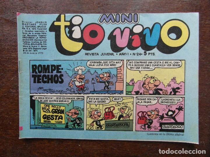 MINI TIO VIVO. AÑO I Nº 24. EDITORIAL BRUGUERA. 1975 (Tebeos y Comics - Bruguera - Tio Vivo)