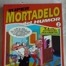Tebeos: TOMO SUPER MORTADELO DEL HUMOR NUM. 2 ( RETAPADO CON 5 NUMEROS.).EDICIONES B. Lote 111358859