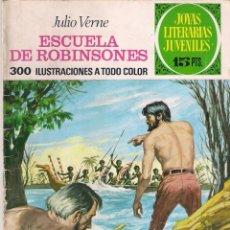 Tebeos: JOYAS LITERARIAS JUVENILES. Nº 108. ESCUELA DE ROBINSONES 1 ª EDICIÓN.. Lote 111896215