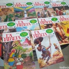Tebeos: LA BIBLIA ILUSTRADA COLOR 1978 BRUGUERA N° 1 AL 10 DIFICIL. Lote 112547023