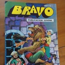 Tebeos: BRAVO- Nº 1-EL CACHORRO- Nº 1 -1976-´EL ORO DE LAS INDIAS`. Lote 112809715