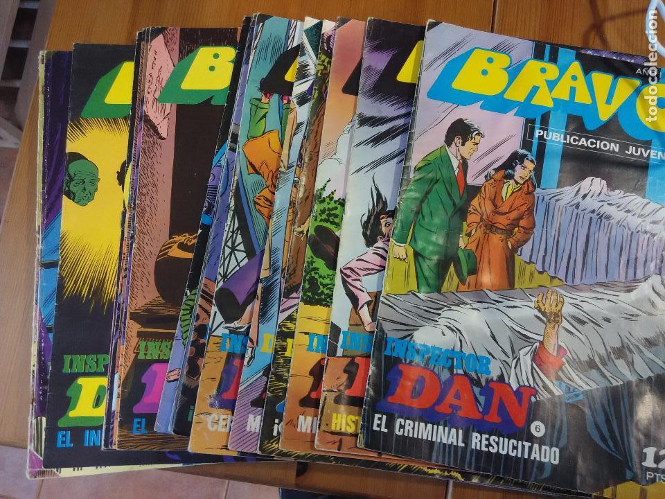 LOTE AVANZADO 17 BRAVO - INSPECTOR DAN Nº 12 - 14- 16 - 18 - 20 - 22 - 38 AL 54 Y 60 - 62 - 66 (Tebeos y Comics - Bruguera - Bravo)