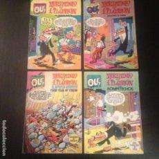 Tebeos: MORTADELO Y FILEMON - LOTE 4 COMIC COMICS EDITORIAL BRUGUERA AÑOS 80 - OLE ROMPETECHOS SACARINO. Lote 112829027