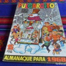 Tebeos: PULGARCITO ALMANAQUE 1968 CON EL SHERIFF KING. BRUGUERA 15 PTS. BUEN ESTADO.. Lote 112981867