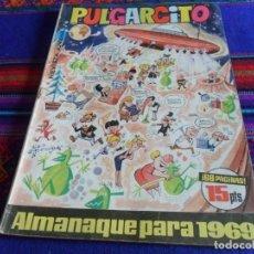 Tebeos: PULGARCITO ALMANAQUE 1969 CON EL SHERIFF KING. BRUGUERA 15 PTS. . Lote 112982223