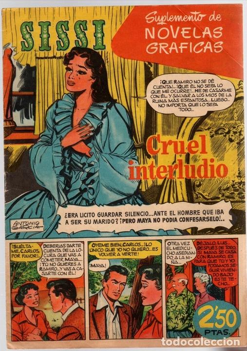 SISSI. SUPLEMENTO DE NOVELAS GRAFICAS. Nº 3. CRUEL INTERLUDIO. BRUGUERA (Tebeos y Comics - Bruguera - Sissi)