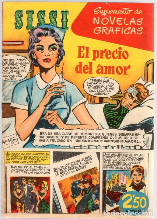 SISSI. SUPLEMENTO DE NOVELAS GRAFICAS. Nº 5. EL PRECIO DEL AMOR. BRUGUERA (Tebeos y Comics - Bruguera - Sissi)