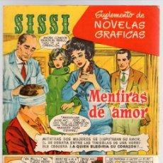 Tebeos: SISSI. SUPLEMENTO DE NOVELAS GRAFICAS. Nº 7. MENTIRAS DE AMOR. BRUGUERA. Lote 113051218