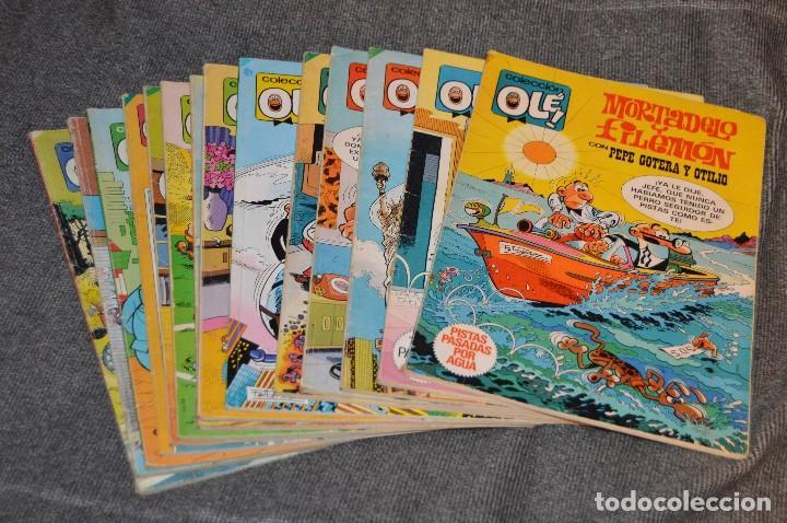 1ª EDICIÓN / ATIGUOS - LOTE DE 14 EJEMPLARES VARIADOS DEL TEBEO OLÉ - HAZME UNA OFERTA (Tebeos y Comics - Bruguera - Ole)