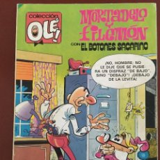 Tebeos: OLE Nº 262. MORTADELO Y FILEMÓN + EL BOTONES SACARINO (1983). Lote 113561927