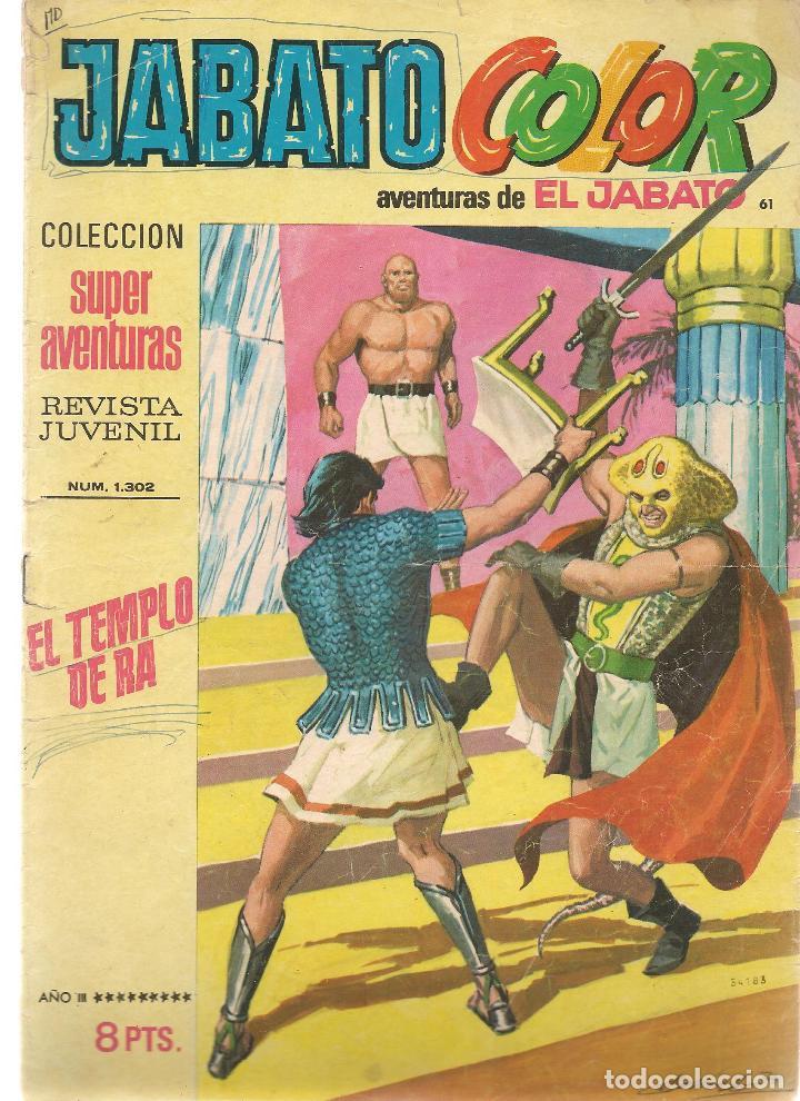 JABATO COLOR. Nº 61. EL TEMPLO DE RA. 1ª ÉPOCA. BRUGUERA (ST/A2) (Tebeos y Comics - Bruguera - Jabato)