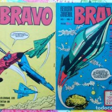 Tebeos: BRAVO Nº 6 Y 27 (BRUGUERA 1968) CON GALAX EL COSMONAUTA (VICTOR MORA-FUENTES MAN) 2 TEBEOS.. Lote 52669053