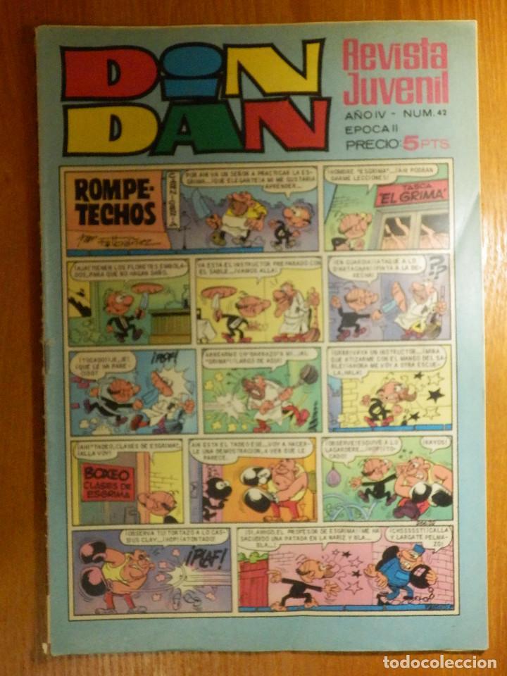 TEBEO - COMIC - DIN DAN - EPOCA II - AÑO IV - Nº 42 - 5 PTS. - 1968 - BRUGUERA (Tebeos y Comics - Bruguera - Din Dan)