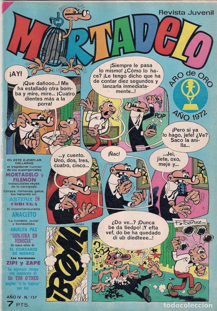 MORTADELO SEMANAL Nº 137 (Tebeos y Comics - Bruguera - Mortadelo)