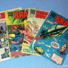 Tebeos: LOTE DE 4 COMICS REVISTA JUVENIL BRAVO BRUGUERA EN BUEN ESTADO ORIGINALES. Lote 114330967