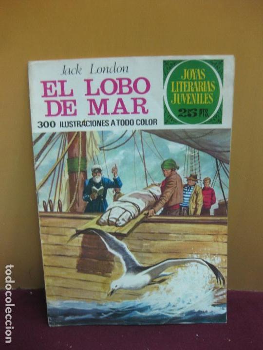 EL LOBO DE MAR. JACK LONDON. JOYAS LITERARIAS Nº 155. 1ª EDICION, 1-3-1976 (Tebeos y Comics - Bruguera - Joyas Literarias)