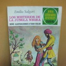 Tebeos: LOS MISTERIOS DE LA JUNGLA NEGRA. EMILIO SALGARI. JOYAS LITERARIAS Nº 149. 1ª EDICION, 8-12-1975. Lote 114354835