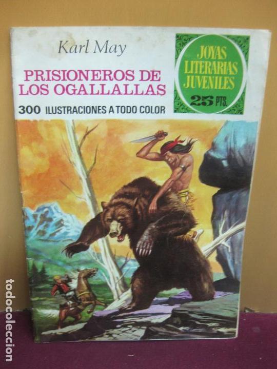 PRISIONEROS DE LOS OGALLALLAS. KARL MAY. JOYAS LITERARIAS Nº 163. 1ª EDICION, 21-6-1976 (Tebeos y Comics - Bruguera - Joyas Literarias)