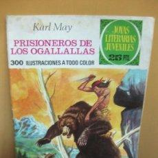 Tebeos: PRISIONEROS DE LOS OGALLALLAS. KARL MAY. JOYAS LITERARIAS Nº 163. 1ª EDICION, 21-6-1976. Lote 114355007