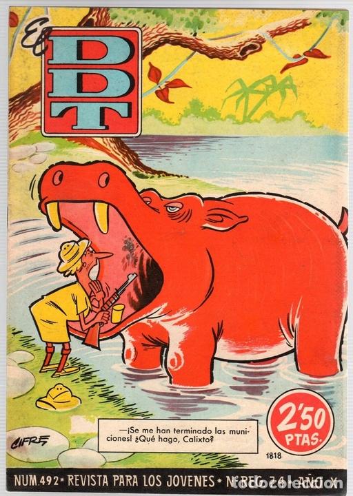 EL DDT. Nº 492. 17 DE OCTUBRE DE 1960 (Tebeos y Comics - Bruguera - DDT)