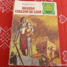 Tebeos: COMIC JOYAS LITERARIAS-Nº: 19 RICARDO CORAZÓN DE LEÓN.. Lote 114883799
