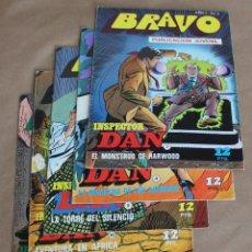 Tebeos: BRAVO INSPECTOR DAN 2 4 5 18 22 – BRUGUERA, AÑO 1976 - TAMBIÉN SUELTOS. Lote 114964754