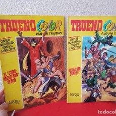 Tebeos: LOTE 2 COMIC TEBEO EL CAPITAN TRUENO ALBUM COLOR AVENTURA Nº 5,8 1970 BRUGUERA. Lote 115248919